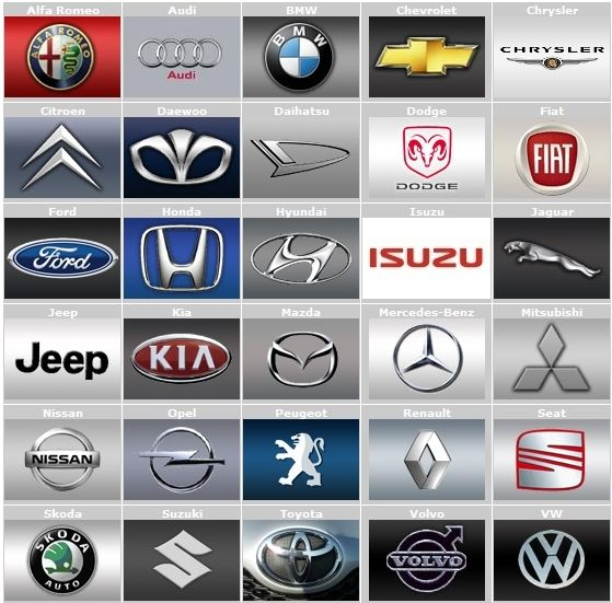 Fahrzeughersteller Logose